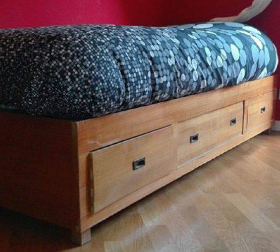 Letto singolo con struttura in legno - Struttura letto singolo ...